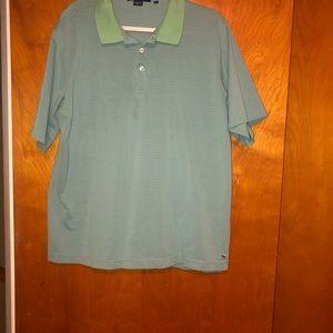 Men vineyard vines stripe polo shirt L large